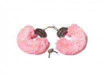 Шикарные наручники с пушистым мехом розового цвета Be Mine