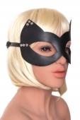 Кожаная маска Кошка с заклепками