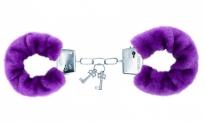 Фиолетовые меховые наручники Notabu BDSM