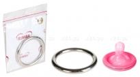 Металлическое кольцо на пенис COCK RING SILVER 5 см