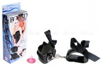Виниловые поножи со стразами и лентами Ribbon Ankle Cuffs