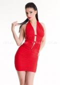 Платье красное стрейчевое с открытой спиной
