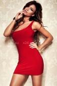 Платье стрейчевое красное