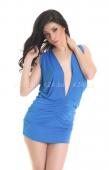 Платье стрейчевое голубое