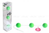 Трехрядные анальные шарики зеленые Funny Five