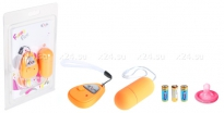 Виброяйцо оранжевое на дистанционном пульте управления Funny Five