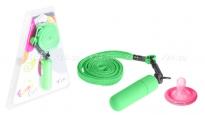 Мини-вибратор зеленый на шнурке Funny Five