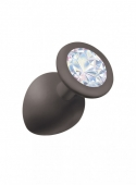 Анальная пробка Emotions Cutie Large Black moonstone crystal