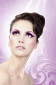 Ресницы фиолетовые длинные Deluxe