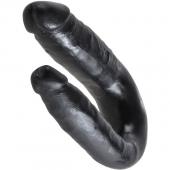 Фаллоимитатор двусторонний King Cock Small Double Trouble, черный