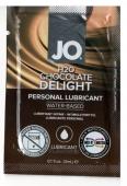 Вкусовой лубрикант на водной основе Sachet Flavored Chocolate Delight (шоколад) 3 мл