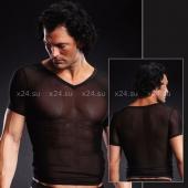Сетчатая черная футболка SM