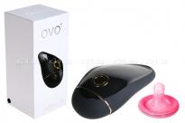 Клиторальный стимулятор OVO (5 режимов) черный с золотым