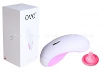 Клиторальный стимулятор OVO (5 режимов) бело-розовый