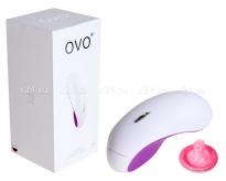 Клиторальный стимулятор OVO (5 режимов) бело-фиолетовый