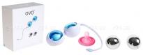 Любовные шарики OVO с дополнительным комплектов шаров голубой, хром
