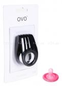 Двойное эрекционное черное виброкольцо на пенис OVO