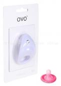 Эрекционное вибрирующее кольцо на пенис OVO белый