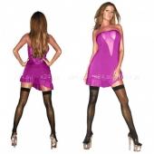 Розовое платье без бретелей SM