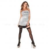 Серебристое платье с надписью Hustler SM