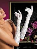 Гипюровые перчатки белые