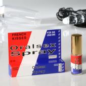 Аэрозоль для орального секса French Kisses Oralsex Spray земляника 12 мл.