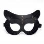 Кожаная женская маска кошечки черная Matryoshka_Leather