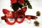 Новогодний кожаный набор аксессуаров от Matryoshka_Leather маска и ошейник