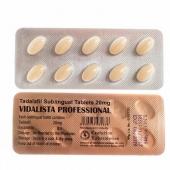 Vidalista Pro-20 (Тадалафил Про 20 Vidalista Professional) таблетки для рассасывания для увеличения потенции 10 таб. 20 мг